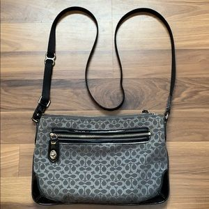 Coach Crossbody with Signature Black Canvas